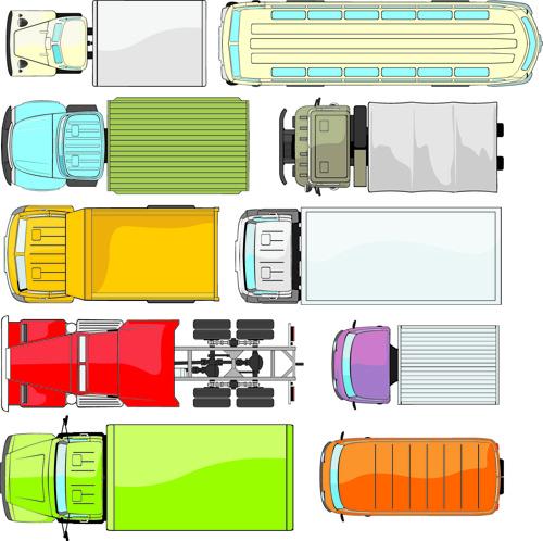 different truck vector
