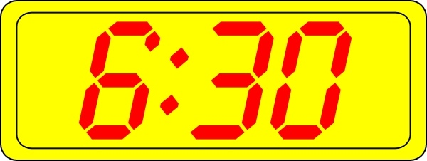 Digital Clock 6:30 clip art