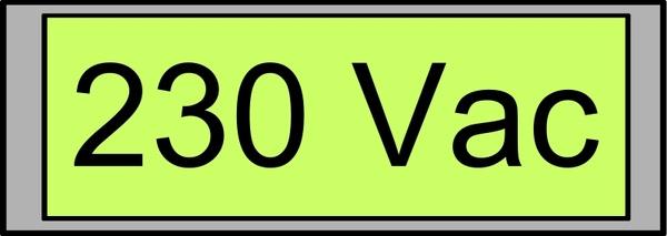 Digital Display with Voltage 230 Vac