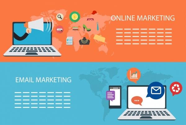 digital marketing banners computer icon horizontal design