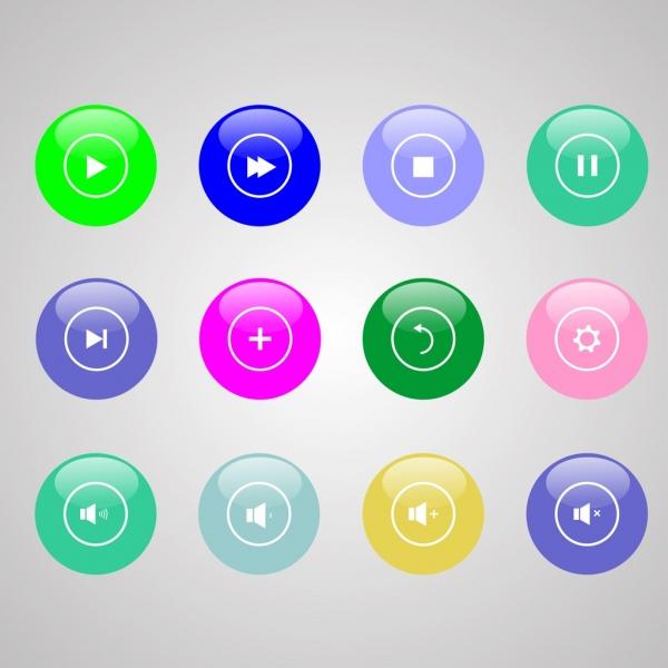 digital sound button sets various colorful circles