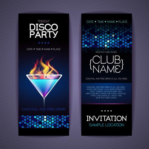 Disco party invitation cards creative vector free vector in disco party invitation cards creative vector stopboris Choice Image