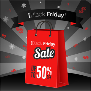 discount black friday poster vector