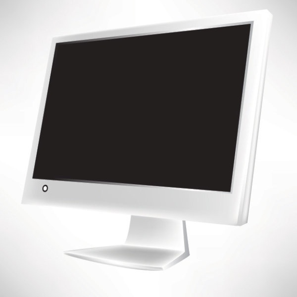 computer screen icon design shiny realistic style