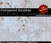 Distressed Photoshop Brushes