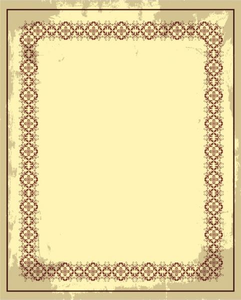 document border design retro design seamless symmetry decor