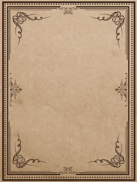 document border template classical curves decoration symmetric style