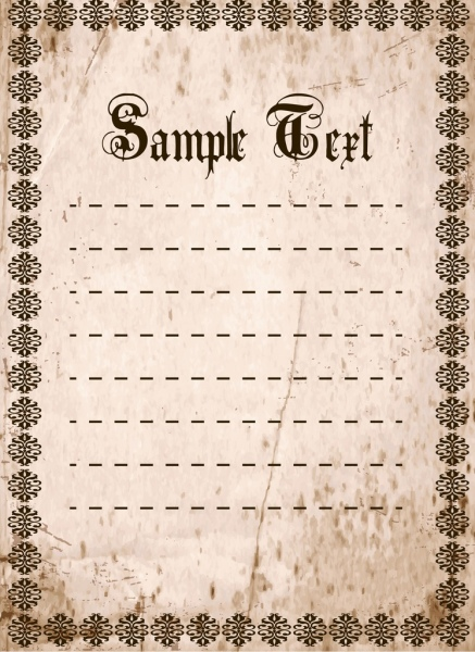 document border template retro style repeating pattern