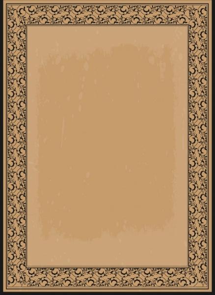 document border template seamless motif retro style