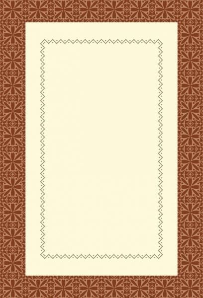 document border template seamless symmetric dots decor