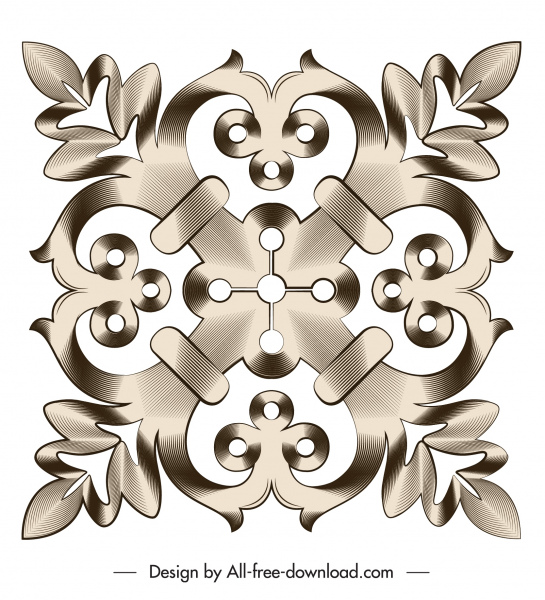 document decorative element elegant symmetrical flat shape