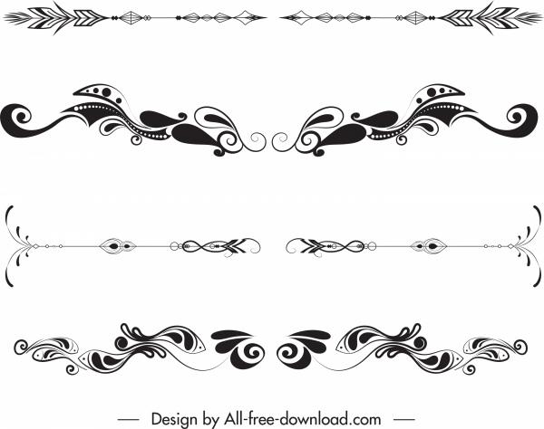 document decorative elements elegant classic symmetric shape