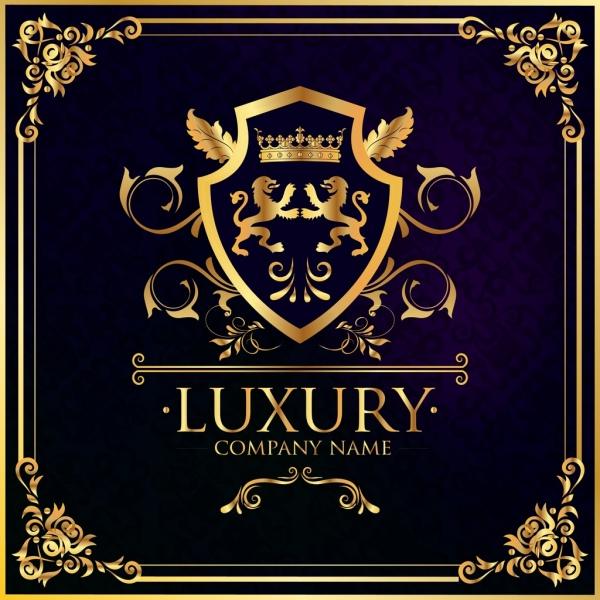 document decorative template golden royal design elements