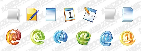 document the calendar mail symbol cool icon psd layered