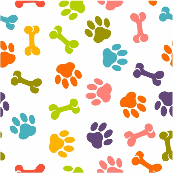dog free vector download  843 free vector  for commercial Dog Paw Print Border Template Paw Print Borders for Microsoft Word