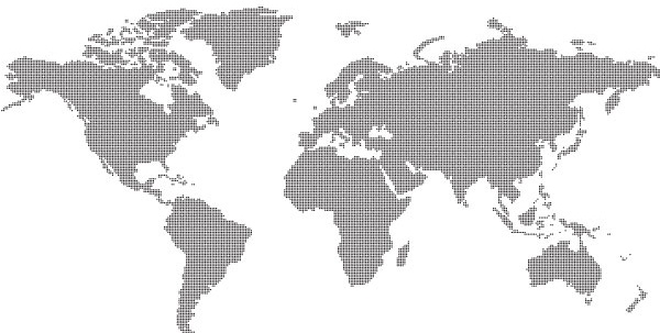 Dotted world map free vector in adobe illustrator ai vector dotted world map gumiabroncs Images