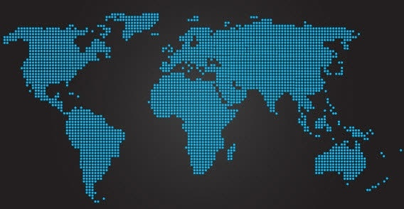 Dotted World Map Vector Free vector in Adobe Illustrator ai ( .ai ...