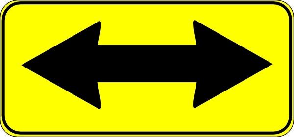 Double Arrow Sign clip art