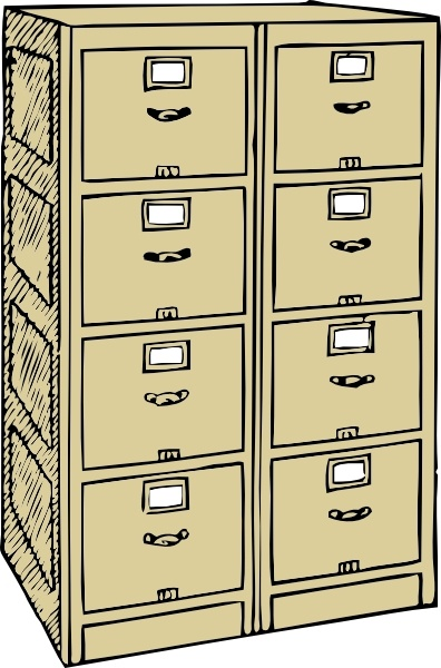 double drawer file cabinet clip art free vector in open office