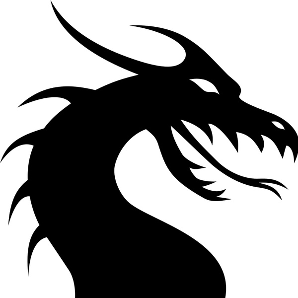 dragon head silhouette free vector in open office drawing svg