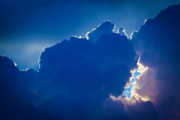 dramatic blue clouds
