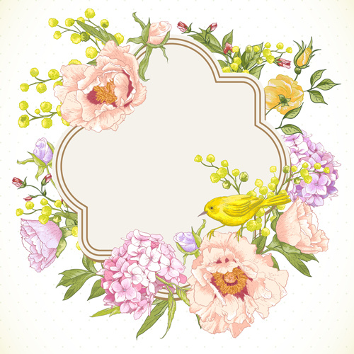 Drawing Spring Flower Vector Background Art Free Vector In
