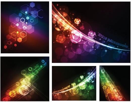 lights background templates modern colorful twinkling motion design