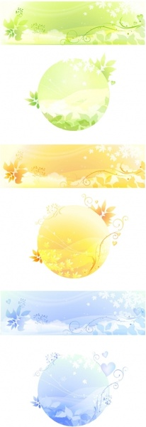 dream theme vector leaves