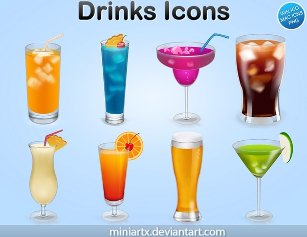 Drinks Icons icons pack