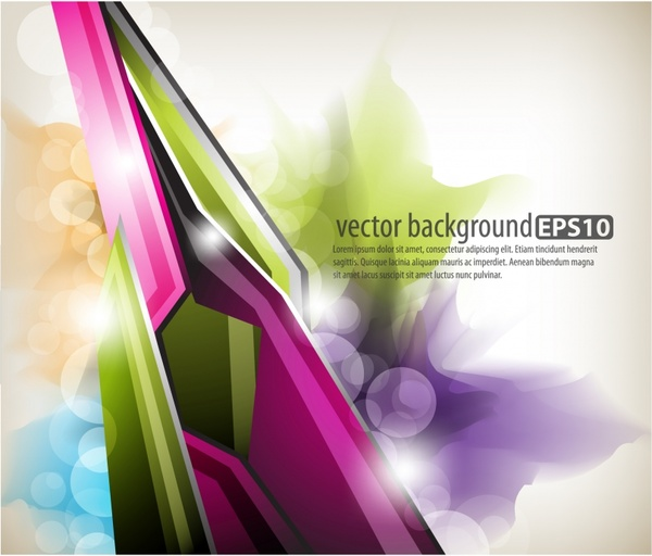 abstract background modern colorful shiny bokeh decor