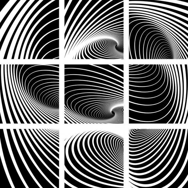 decorative background templates black white illusion dynamic decor
