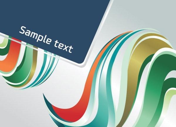 dynamic color bar 02 vector