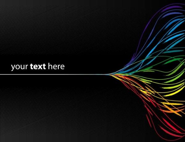 dynamic color line 02 vector