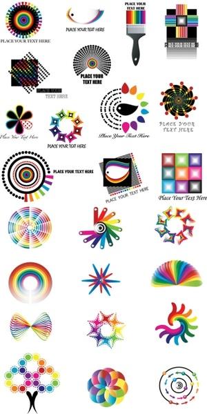 dynamic color logo pattern vector