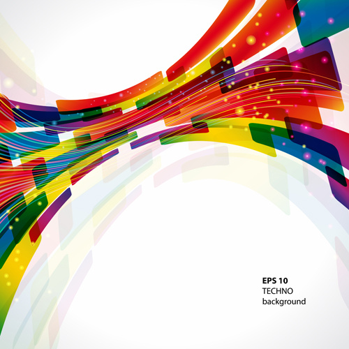 dynamic colored abstract elements vector