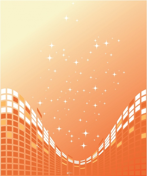 abstract background sparkling curved deformation decor squares ornament