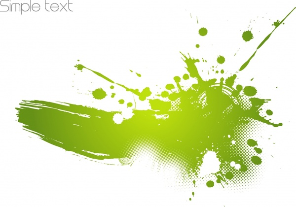 decorative background grunge dynamic green splattered ink