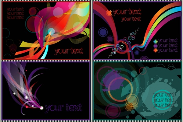 decorative background templates colorful dynamic abstract design