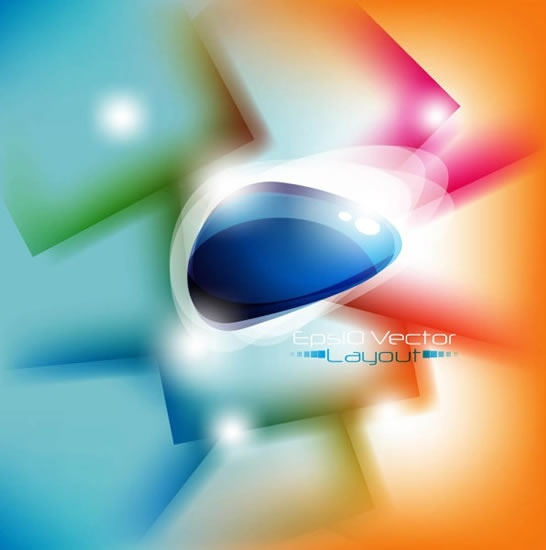 decorative abstract background template modern colorful blurred design