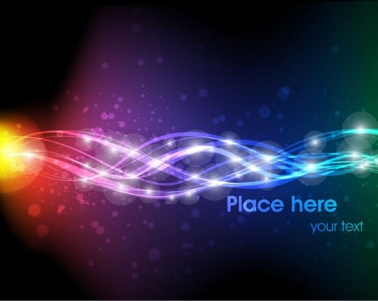 decorative background dynamic bokeh curved light effect