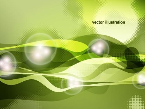technology background template modern bubbles dynamic light decor