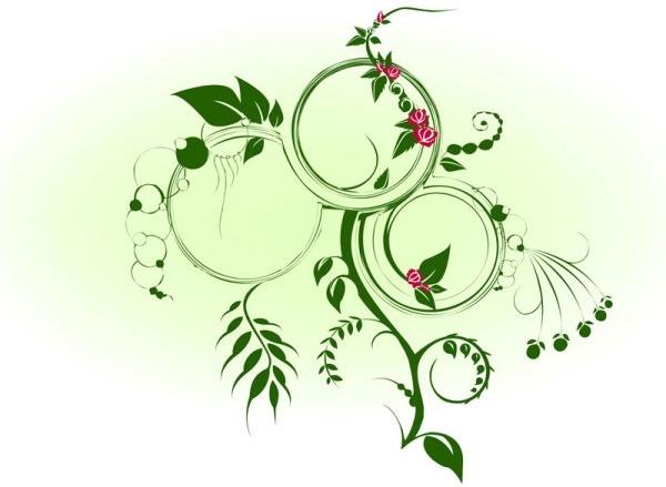 dynamic green vine vector