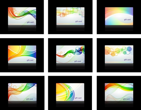 business card templates modern colorful dynamic abstract decor
