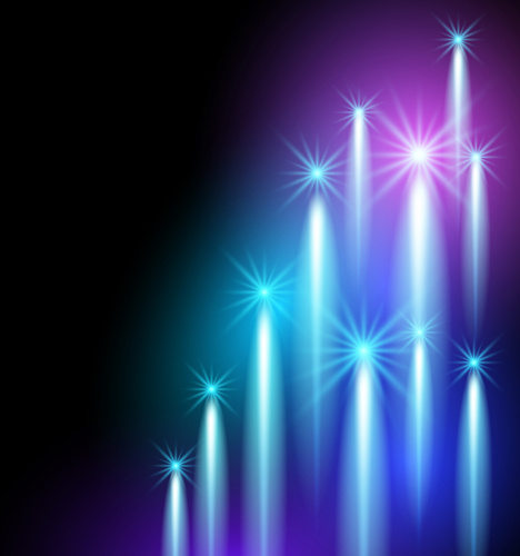 dynamic light with shiny stars vector background