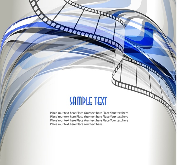 movie background film strip icons modern curves decor