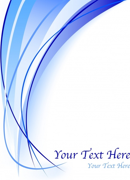 abstract background modern blue curved lines ornament