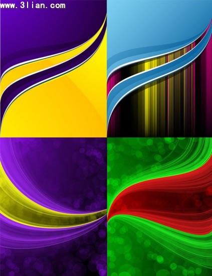 decorative background templates colorful dynamic curves decor