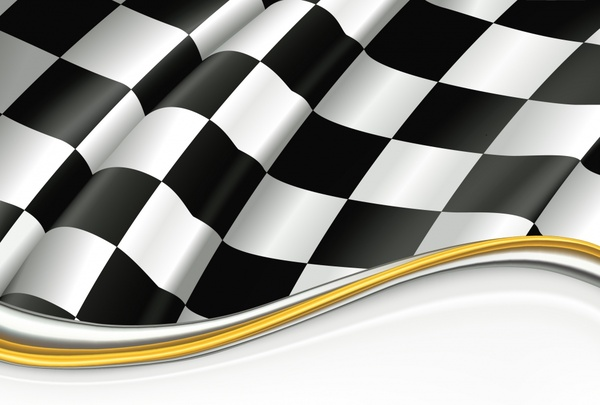 racing flag background modern dynamic 3d checkered decor
