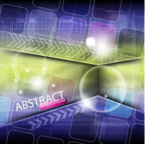 dynamic technology background 01 vector
