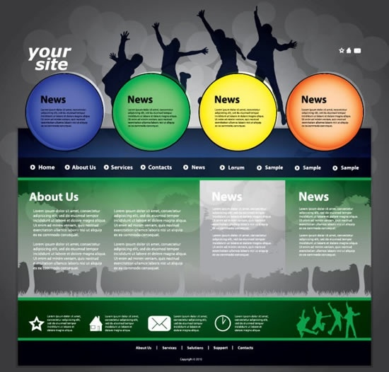Dynamic Web Template Vector Free Vector In Encapsulated PostScript - Dynamic web template